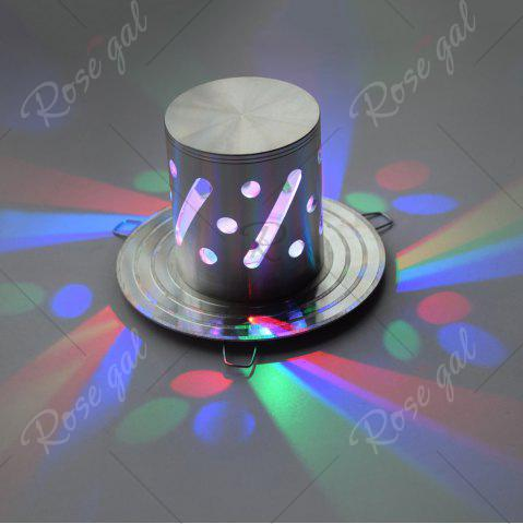 Outfits LED Colorful Decorative Wall Light - SILVER  Mobile