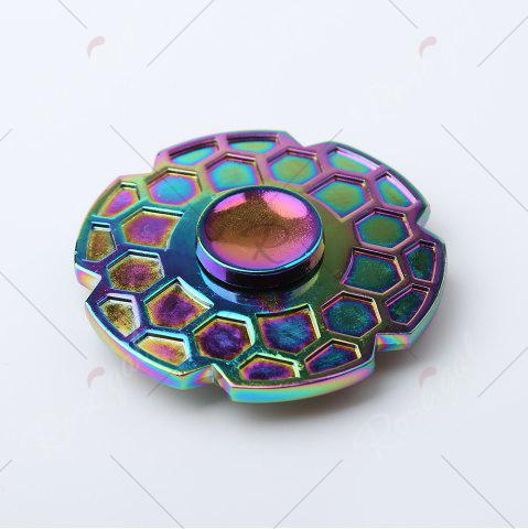 Outfits Focus Toy Geometric Pattern Round Colorful Fidget Metal Spinner - COLORMIX  Mobile
