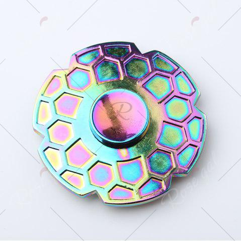 Latest Focus Toy Geometric Pattern Round Colorful Fidget Metal Spinner - COLORMIX  Mobile
