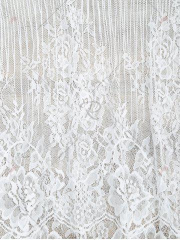 Store See-Through Lace Cover Up Tank Top - S WHITE Mobile