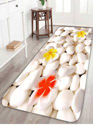 3D Flower Cobblestone Coral Fleece Bath Rug