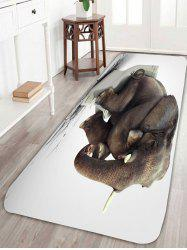 Elephant in Thought Skidproof Coral Fleece Bath Rug