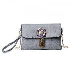 Ethnic Beads Wristlet Clutch Bag