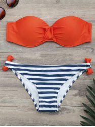 Ensemble de bikini contrasté - Orange