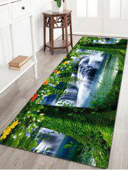 Tree Scenery Pattern Flannel Water Absorption Area Rug