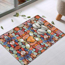 Colorful Stone Pattern Water Absorption Flannel Area Rug