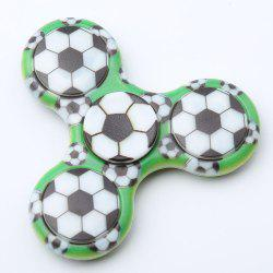 Spinner Rotatif en Plastique Motif Football -