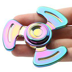 Anti-stress Toy Tri-bar Feet Fidget Metal Spinner - Multicolore