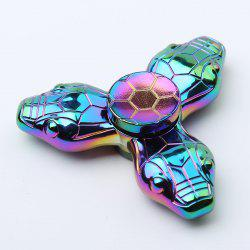 Colorful Snake Tri-bar Fidget Metal Spinner Fiddle Toys - COLORMIX
