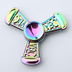 Fiddle Toy Colorful ABC Tri-bar Fidget Metal Spinner