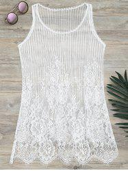 See-Through Lace Cover Up Tank Top