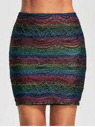 Graphic Lace Tight Skirt