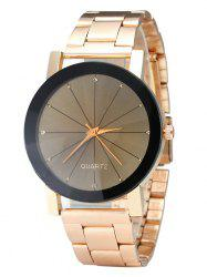 Rhinestone Steel Strap Analog Quartz Watch - ROSE GOLD