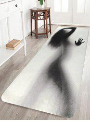 Coral Fleece Woman Shadow Bath Rug