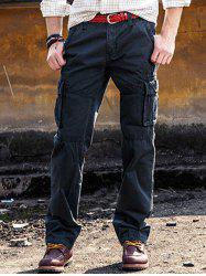 Multi Pockets Zip Fly Straight Cargo Pants