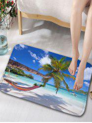 Blue Sky and Sea Print Flannel Skidproof Rug