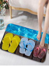 Slippers Print Flannel Antiskid Door Mat