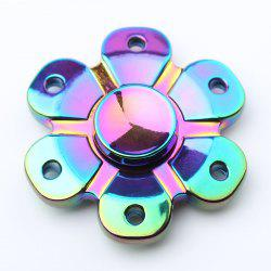 Flower Shape Colorful Fidget Metal Spinner Anti-stress toy
