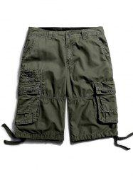 Flap Pockets Zip Fly Cargo Pants