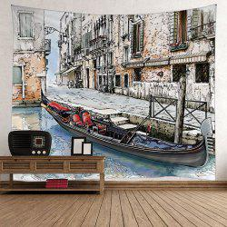 Wall Decor Venice Scenic Tapestry - Gris