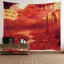 Wall Hanging Nature Forest Fall Road Foliage Tapestry -