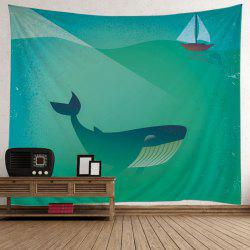 Whale Boat Pattern Wall Hanging Tapestry