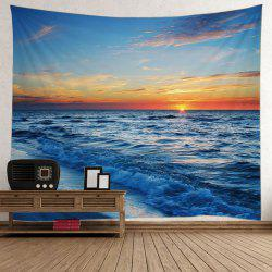 Seaside Sunset Wall Decorative Tapestry