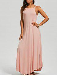 Asymmetrical Trim Maxi Dress