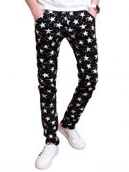 Zip Fly All Over Stars Printed Skinny Pants