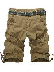 Zip Fly Multiple Pockets Cargo Shorts