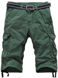 Multiple Pockets Zipper Fly Cargo Shorts