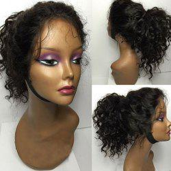 Long Shaggy Curly Free Part Lace Front Human Hair Wig