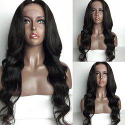 Long Center Parting Loose Wave Lace Front Human Hair Wig