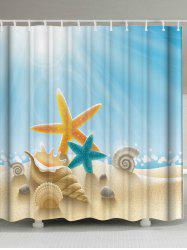 Starfish Conch Water Resistant Shower Curtain