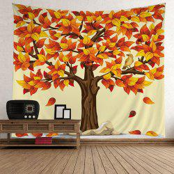 Home Decor Tree Falling Leaves Tapestry