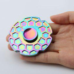 Focus Toy Geometric Pattern Round Colorful Fidget Metal Spinner
