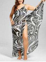 Plus Size Graphic Cover-up Maxi Wrap Dress