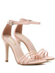 Patent Leather Ankle Strap Sandals