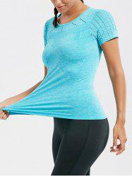 Marled Breathable Ripped Workout T-shirt