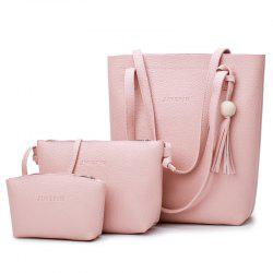 Tassel 3 Pieces Handbag Set - PINK
