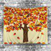 Home Decor Tree Falling Leaves Tapestry -