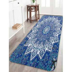 Skidproof Bohemian Floral Pattern Area Rug