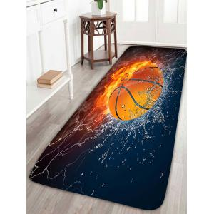 Basketball Fire Water Antiskid Rug - Colorful - W16 Inch * L47 Inch
