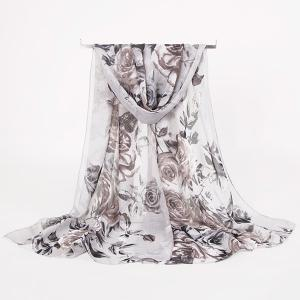 Rose Blossom Printed Lightsome Retro Scarf