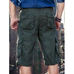 Zip Fly Straight Pockets Cargo Shorts -