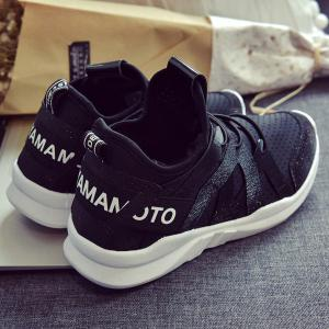Letter Print Breathable Sneakers -