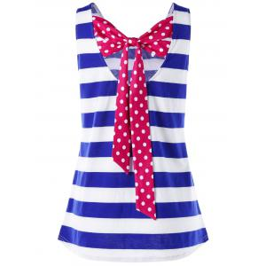 Back Bowknot Stripe Tank