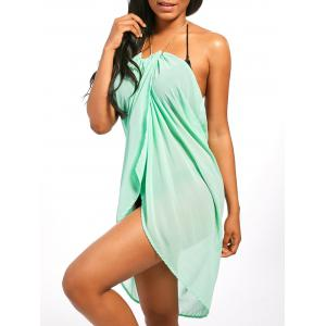 Beaded Rope Strap Chiffon Cover Up Dress
