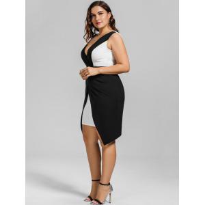 Robe Cocktail à Coupe Basse Grande Taille -