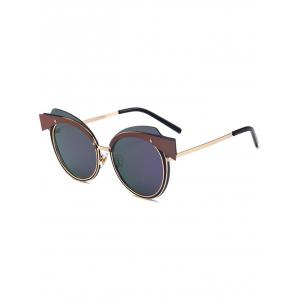 Cat Eye Metallic Splicing Top Frame Sunglasses